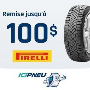 Remise jusqu'à 100$ ou 125 dollars CAA à l'achat de 4 pneus Pirelli sélectionnés