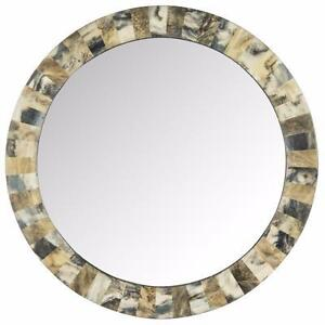 Etienne Faux Tigers Eye Wall Mirror by Safavieh NEW