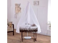 Moses basket with stand and drapes