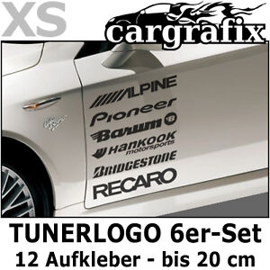 tunerlogo sponsoren aufkleber marken auto decals tuning. Black Bedroom Furniture Sets. Home Design Ideas