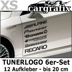 Tunerlogo Sponsoren Aufkleber Marken Auto Decals Tuning Racing Logo Sticker Set