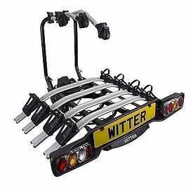 WITTER ZX504 Towball Mounted 4 Bike Carrier.