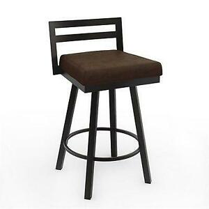 AMISCO 41443-261B75D8F4 Derek Modern Counter Height Bar Stool – Cobrizo (Assembled)