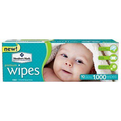 Member's Mark Premium Baby Wipes, 1000 ct. (10 packs of 100) | Free Shipping