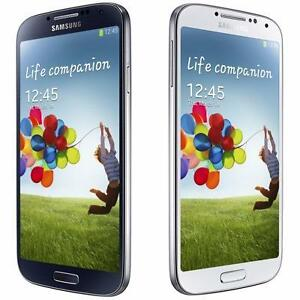 SAMSUNG GALAXY S4 UNLOCKED 16GB BLACK WHITE SMARTPHONE ROGERS TELUS VIDETRON CHATR