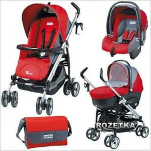 Peg Perego Pliko Switch Stroller and car seat travel system RED