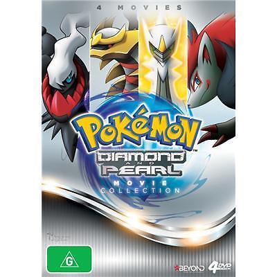 Pokemon Diamond and Pearl: 4 Movie Collection DVD R4 Rise of Darkrai...
