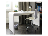 DWELL Hudson white gloss desk FOR SALE