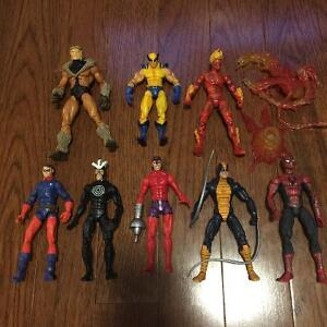 Assorted Marvel Legends Action Figures X-men spider-man