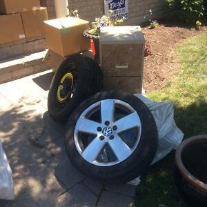 4 17 inch Alloy Rims and 4 Michelin Primacy MXM4 Tires
