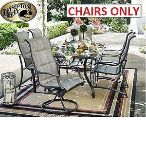 NEW 6 HAMPTON BAY PATIO CHAIRS FCS70357-ST-1 261597286 STATESVILLE SLING DINING