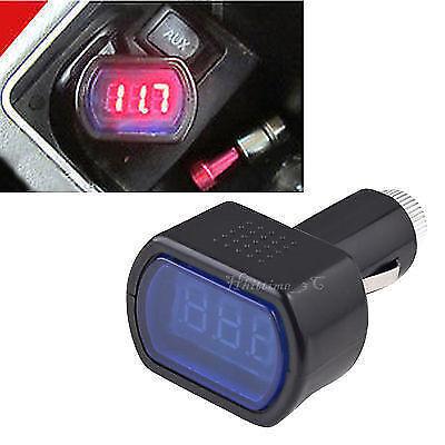 12V Digital LED Auto Car Truck Cigarette Lighter Volt Voltage Gauge Meter socket