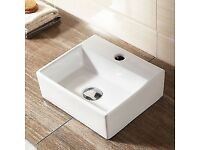 Square Small Ceramic Sink Wall Hung or Counter Top 330x290 cm