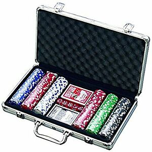 Professional style poker set - chips dice cards case