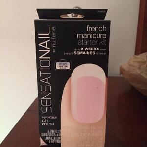 Used nails by Nailene starter kit. French manicure.