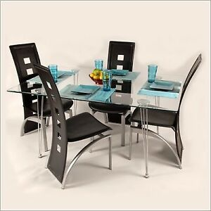 Dining Table & Tuxedo Chairs STUNNING