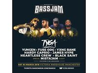 2 bassjam tickets, 3rd March 2018