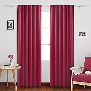 Thermal Insulated Back Tab Curtains 52W x 63L Inch