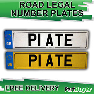 PAIR of GB Euro Number Plates MOT Compliant 100% Road Legal