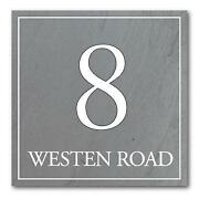 Grey Slate House Signs