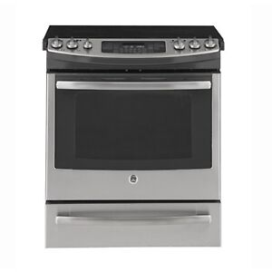 STOVE GE PROFILE SLIDE-IN CONVECTION STAINLESS STEEL OPEN BOX