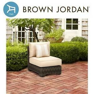 NEW* BJ ARMLESS SECTIONAL CHAIR - 124614245 - BROWN JORDAN NORTHSHORE PATIO HARVEST