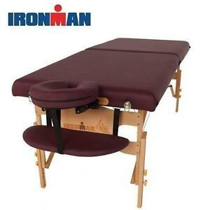 NEW IRONMAN 30'' MASSAGE TABLE VENTURA MASSAGE TABLE WITH HEATING PAD  CARRY BAG 109280764