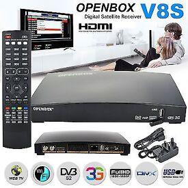 ★OPENBOX V8S Digital Freesat PVR Full HD TV SAT RECEIVER★OVERBOX M9S★12 MTHS