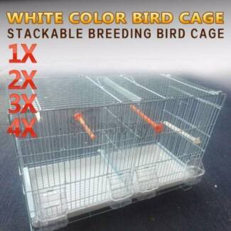 White Color Stackable Breeding Bird Cage for Canary Finch Small