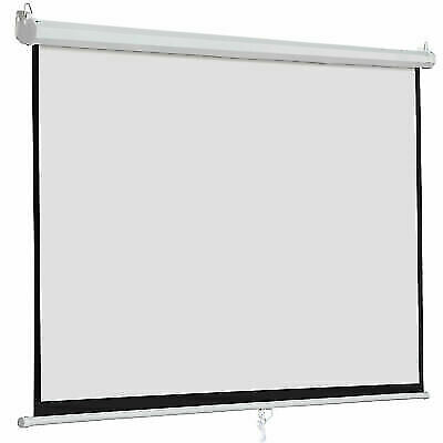 """120"""" 16:9 Home Theatre Movie Manual Projection Screens Pull Down Projector Matte"""