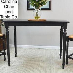 NEW* CAROLINA COTTAGE PUB/BAR TABLE ANTIQUE BLACK FINISH - HAWTHORNE 105253362