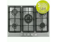 70cm 5 Burner Hob Gas - Stainless steel - BRAND NEW