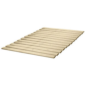 Attached Solid Wood Bed Support Slats - Bunkie Board queen bed