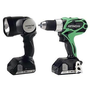 Hitachi 18V 1/2 Variable Speed Compact Drill/Flashlight Kit DS18DSAL