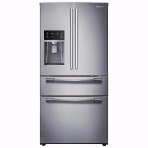 "Samsung 33"" 24.7 Cu. Ft. 4-Door Refrigerator Stainless Steel  *warranty available*"
