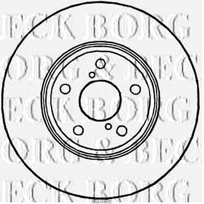 FRONT  BRAKE DISCS PAIR FOR LEXUS GENUINE OE BORG & BECK  BBD4809