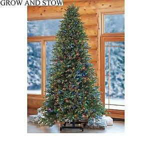 NEW 7'/9' PRELIT CHRISTMAS TREE 1456675 212128614 ADJUSTABLE GROW AND STOW ASPEN SUPERBRIGHT 850 COLOUR CHANGING LED ...