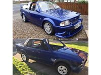 Escort mk3 Cabriolet rolling shell with rs turbo engine/lsd box and loom