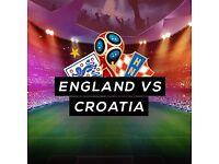 2x tickets Newcastle Times Square England vs Croatia