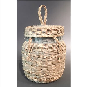 Antique Native Knitting Yarn Basket