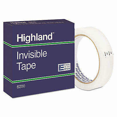 Invisible Permanent Mending Tape 3 Core 0.75 X 72 Yds Clear 6200-342592