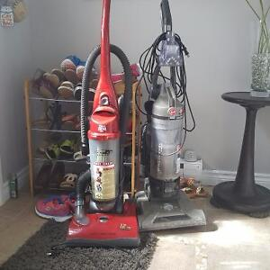 3 stand up vacumes./Hoover dirt devilshark