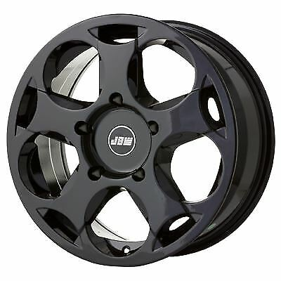 """8""""x18"""" JBW TLB GLOSS BLACK ALLOY WHEELS TO SUIT FORD TRANSIT CUSTOM SET OF 4"""