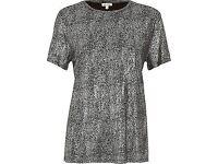 Ladies metallic t-shirt