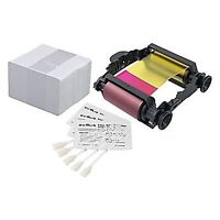 Badgy Evolis Ribbon for Badgy1 printer, 100 Thick Cards and Clea