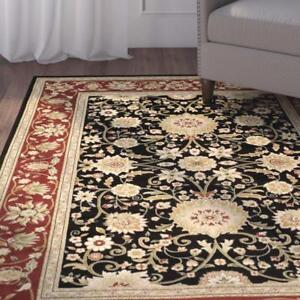 Ottis Black/Red Area Rug by Charlton Home ( 4 X 6) NEW