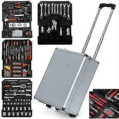 799PCS Tool Set Mechanics Tool Kit Wrenches Socket w/Trolley Case Box