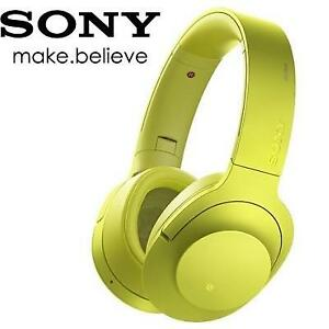 NEW SONY ON EAR HEADPHONES MDR-100AAP 221680535 LIME YELLOW FACTORY SEALED