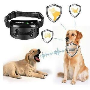 NEW DOG TRAINING COLLAR 249385044 Shock Anti-Barking with Beep Vibration and 7 Sensitivity Levels Rechargeable