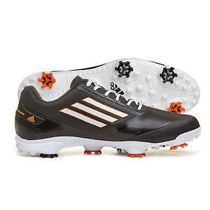 New Orange & Black Adidas Adizero Spiked Golf Shoes